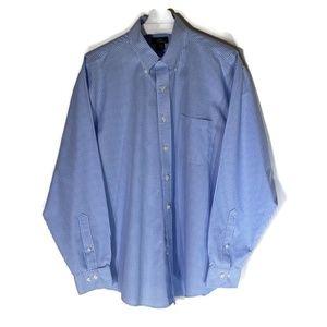 Brooks Brothers 346 shirt blue white check large